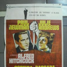 Cine: CDO 2549 CORTINA RASGADA ALFRED HITCHCOCK PAUL NEWMAN JULIE ANDREWS LLOAN POSTER ORIG 70X100 ESTRENO. Lote 205679436