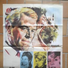 Cine: 2 POSTER CARTEL ORIGINAL ESTRENO 1963 LA HISTORIA DE SAN MICHELE. DELTA FILMS. Lote 205682135