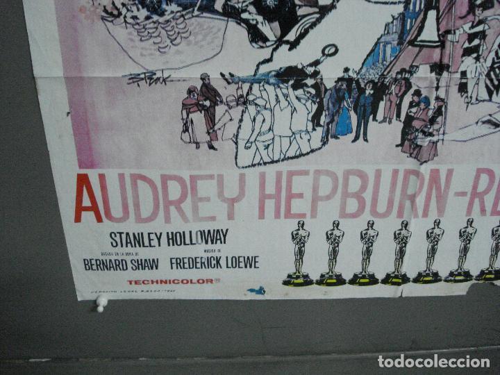 Cine: CDO 2561 MY FAIR LADY AUDREY HEPBURN POSTER de BOB PEAK ORIGINAL 70X100 ESTRENO - Foto 5 - 205682762