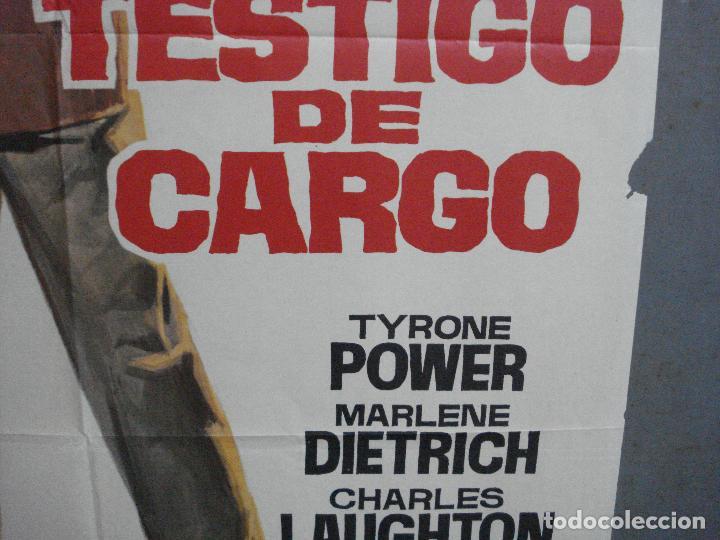 Cine: CDO 2566 TESTIGO DE CARGO TYRONE POWER MARLENE DIETRICH AGATHA CHRISTIE POSTER ORIGINAL 70X100 - Foto 8 - 205683535