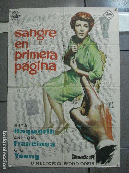 CDO 2578 SANGRE EN PRIMERA PAGINA RITA HAYWORTH ALE POSTER ORIGINAL 70X100 ESTRENO (Cine - Posters y Carteles - Suspense)