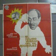 Cine: CDO 2585 CDO 2585 EL CALIDO VERANO DEL SEÑOR RODRIGUEZ LOPEZ VAZQUEZ POSTER ORIGINAL 70X100 ESTRENO. Lote 205687432