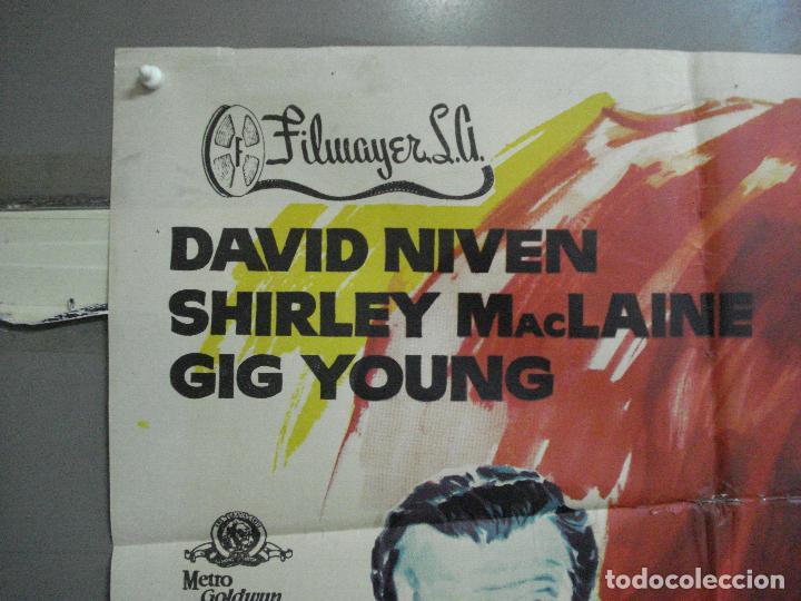 Cine: CDO 2588 TODAS LAS MUJERES QUIEREN CASARSE SHIRLEY MACLAINE DAVID NIVEN POSTER ORIG 70X100 ESTRENO - Foto 2 - 205687793