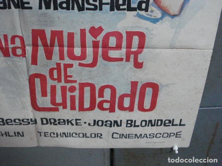 Cine: CDO 2590 UNA MUJER DE CUIDADO JAYNE MANSFIELD JANO POSTER ORIGINAL 70X100 ESTRENO - Foto 9 - 205687980