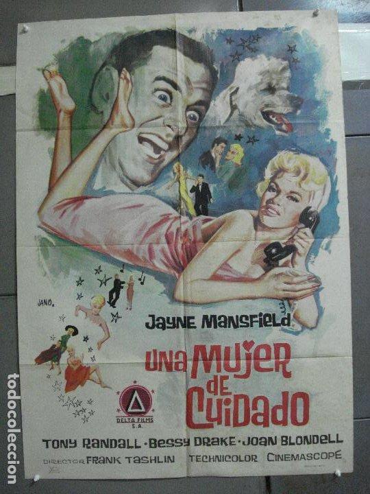 CDO 2590 UNA MUJER DE CUIDADO JAYNE MANSFIELD JANO POSTER ORIGINAL 70X100 ESTRENO (Cine - Posters y Carteles - Comedia)