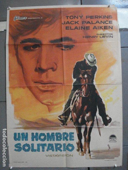 CDO 2592 UN HOMBRE SOLITARIO ANTHONY PERKINS JACK PALANCE MCP POSTER ORIGINAL 70X100 ESTRENO (Cine - Posters y Carteles - Westerns)