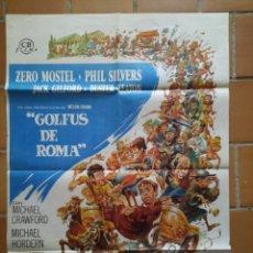 Cine: POSTER CARTEL ORIGINAL ESTRENO. 1967 GOLFUS DE ROMA. CB FILMS. JACK DAVIS. Lote 205688557