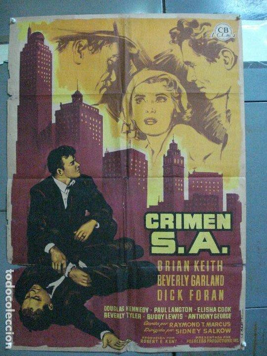 CDO 2601 CRIMEN S.A. BEVERLY GARLAND BRIAN KEITH FILM-NOIR POSTER ORIGINAL 70X100 ESTRENO LITOGRAFIA (Cine - Posters y Carteles - Suspense)