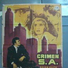 Cine: CDO 2601 CRIMEN S.A. BEVERLY GARLAND BRIAN KEITH FILM-NOIR POSTER ORIGINAL 70X100 ESTRENO LITOGRAFIA. Lote 205690376