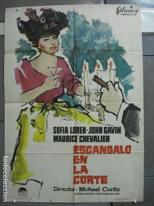 CDO 2603 ESCANDALO EN LA CORTE SOFIA LOREN MCP POSTER ORIGINAL 70X100 ESTRENO (Cine - Posters y Carteles - Comedia)