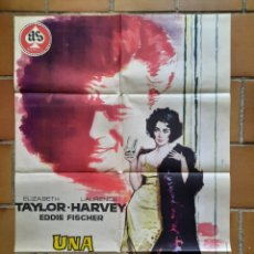 Cine: POSTER CARTEL ORIGINAL ESTRENO 1961. UNA MUJER MARCADA. ELIZABETH TAYLOR. JANO, AS FIMLS. MGM. OSCAR. Lote 205692868