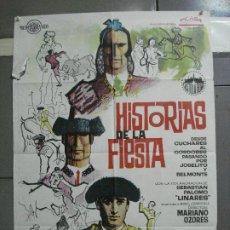 Cine: CDO 2613 HISTORIAS DE LA FIESTA PALOMO LINARES MARIANO OZORES TOROS POSTER ORIGINAL 70X100 ESTRENO. Lote 205697707