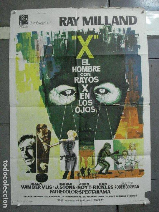 CDO 2618 EL HOMBRE CON RAYOS X EN LOS OJOS ROGER CORMAN RAY MILLAND POSTER ORIGINAL 70X100 ESTRENO B (Cine - Posters y Carteles - Ciencia Ficción)