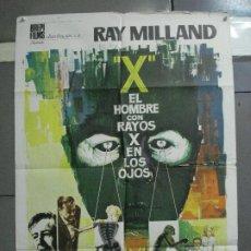Cine: CDO 2618 EL HOMBRE CON RAYOS X EN LOS OJOS ROGER CORMAN RAY MILLAND POSTER ORIGINAL 70X100 ESTRENO B. Lote 205699512