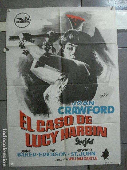CDO 2623 EL CASO DE LUCY HARBIN JOAN CRAWFORD WILLIAM CASTLE HERMIDA POSTER ORIGINAL 70X100 ESTRENO (Cine - Posters y Carteles - Terror)