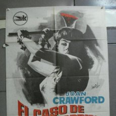 Cine: CDO 2623 EL CASO DE LUCY HARBIN JOAN CRAWFORD WILLIAM CASTLE HERMIDA POSTER ORIGINAL 70X100 ESTRENO. Lote 235593165