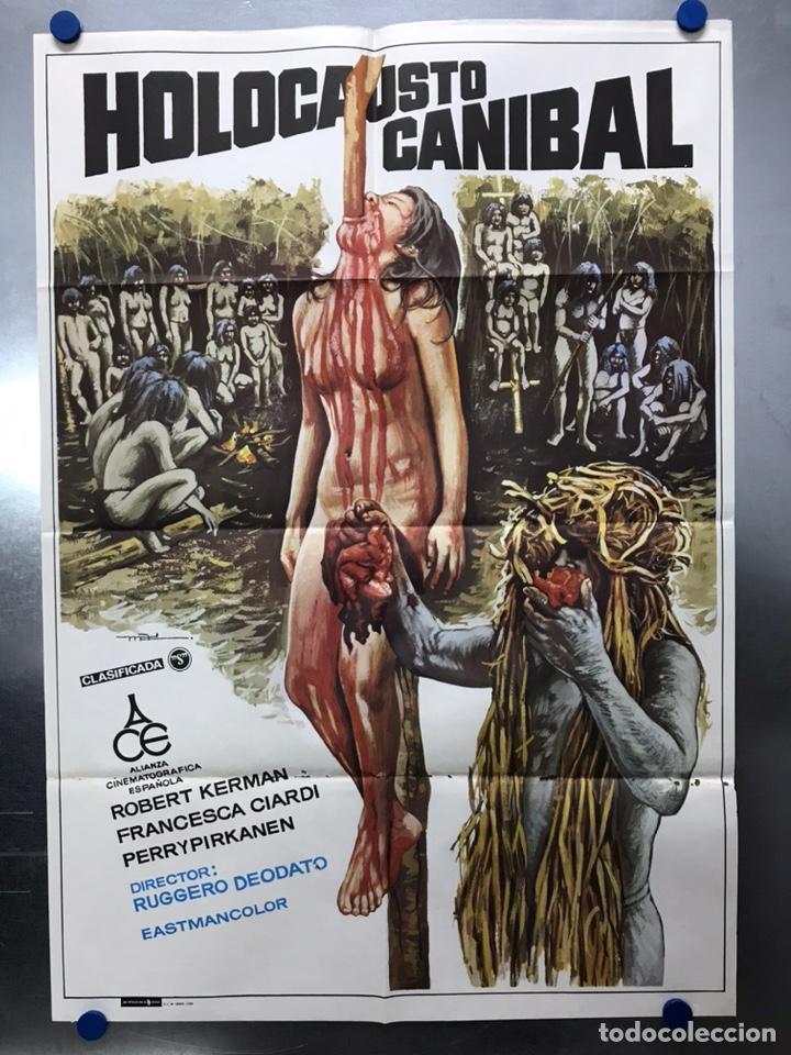 POSTER - HOLOCAUSTO CANIBAL, RUGGERO DEODATO - AÑO 1980 (Cine - Posters y Carteles - Terror)