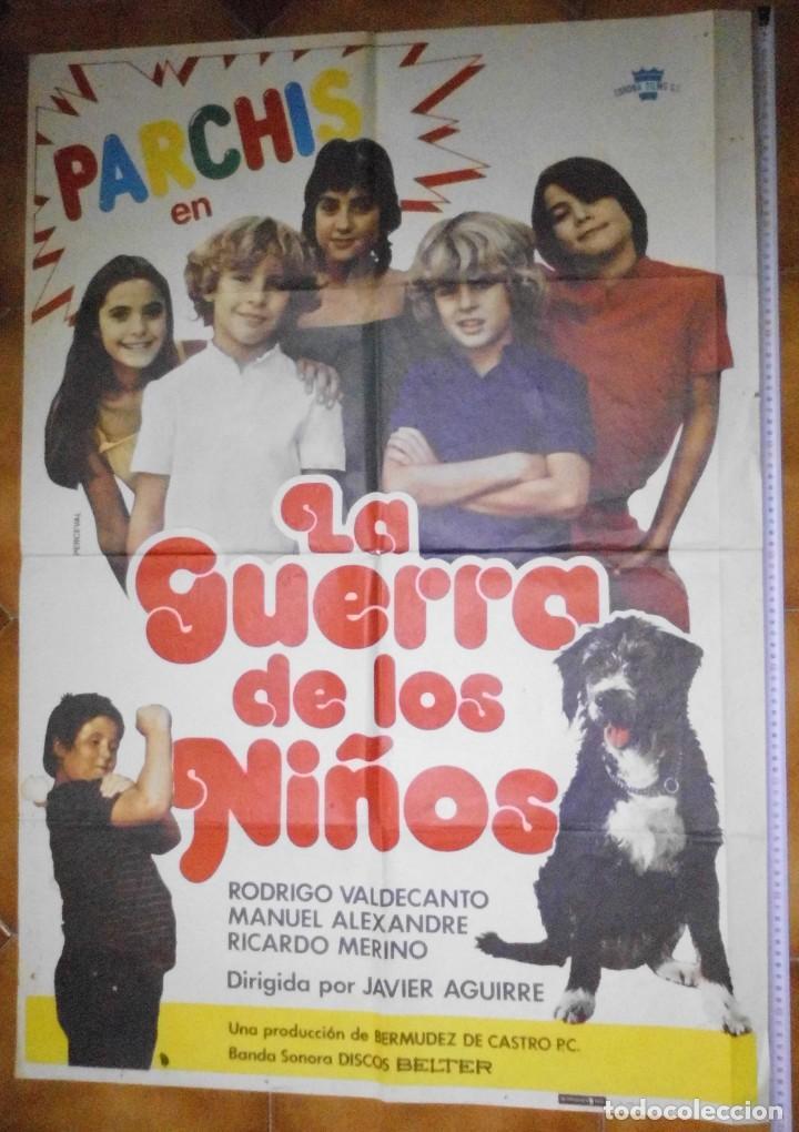 POSTER ORIGINAL PELICULA DE PARCHIS EN LA GUERRA DE LOS NIÑOS, 1980 (Cine - Posters y Carteles - Acción)