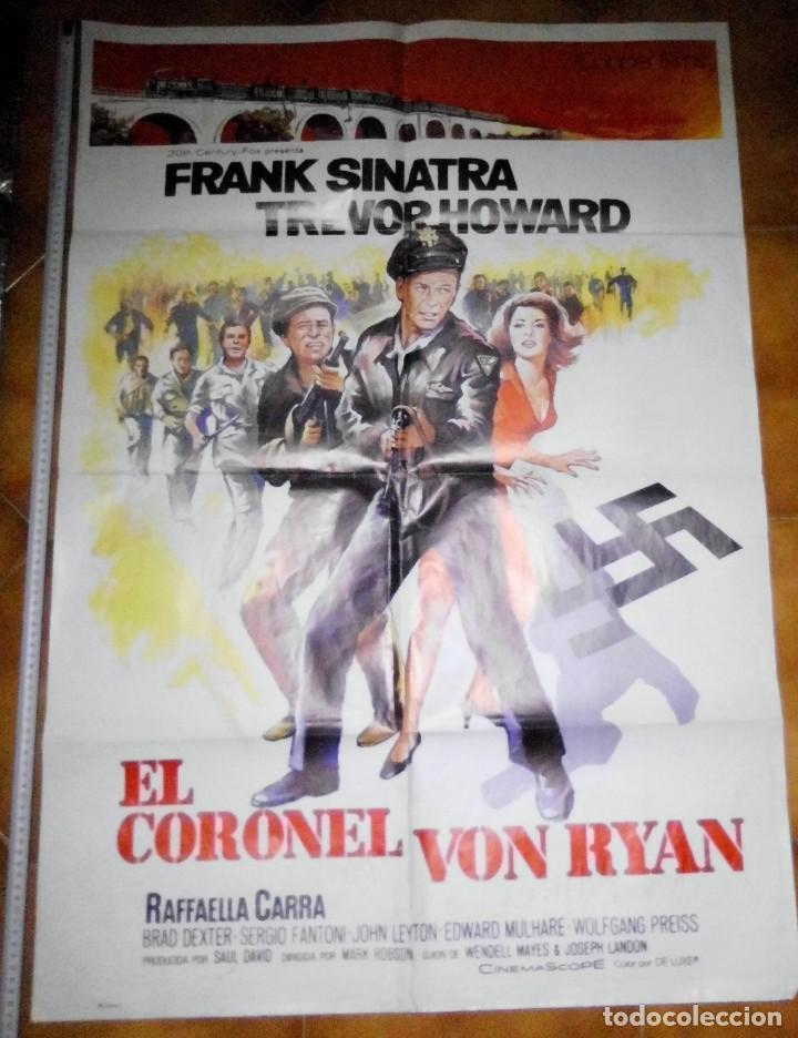 POSTER ORIGINAL PELICULA EL CORONEL VON RYAN, FRANK SINATRA, TREVOR HOWARD, RAFFAELLA CARRA (Cine - Posters y Carteles - Acción)