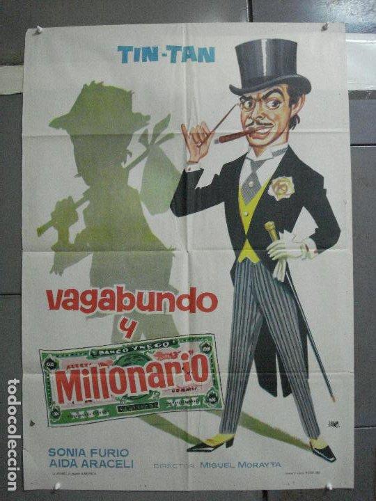 CDO 2656 VAGABUNDO Y MILLONARIO TIN TAN POSTER ORIGINAL ESTRENO 70X100 (Cine - Posters y Carteles - Comedia)