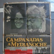 Cine: CDO 2658 CAMPANADAS A MEDIANOCHE ORSON WELLES JEANNE MOREAU POSTER ORIGINAL ESTRENO 70X100. Lote 205769966