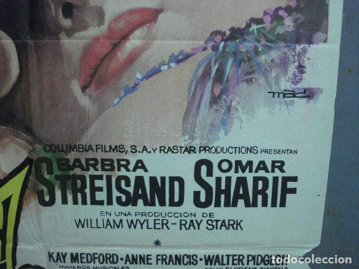 Cine: CDO 2659 FUNNY GIRL BARBRA STREISAND OMAR SHARIF MAC POSTER ORIGINAL 70X100 ESTRENO - Foto 8 - 205770226