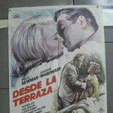 Cine: CDO 2663 DESDE LA TERRAZA PAUL NEWMAN JOANNE WOODWARD ESCOBAR POSTER ORIGINAL 70X100 ESTRENO. Lote 205771308