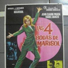 Cine: CDO 2672 LAS 4 BODAS DE MARISOL JANO POSTER ORIGINAL 70X100 ESTRENO. Lote 205773712