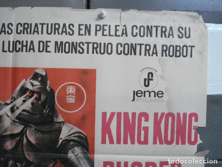 Cine: CDO 2675 KING KONG SE ESCAPA TOHO ISHIRO HONDA GODZILLA POSTER ORIGINAL 70X100 ESTRENO - Foto 6 - 205774732