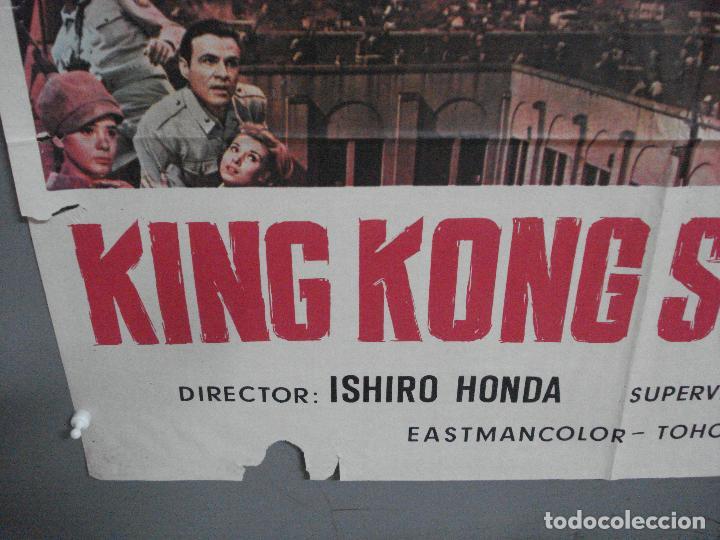 Cine: CDO 2675 KING KONG SE ESCAPA TOHO ISHIRO HONDA GODZILLA POSTER ORIGINAL 70X100 ESTRENO - Foto 5 - 205774732