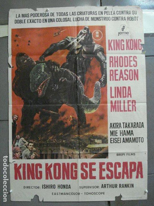CDO 2675 KING KONG SE ESCAPA TOHO ISHIRO HONDA GODZILLA POSTER ORIGINAL 70X100 ESTRENO (Cine - Posters y Carteles - Ciencia Ficción)