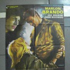 Cine: AAJ68 PIEL DE SERPIENTE MARLON BRANDO SIDNEY LUMET POSTER ORIGINAL 70X100 ESTRENO. Lote 205775161