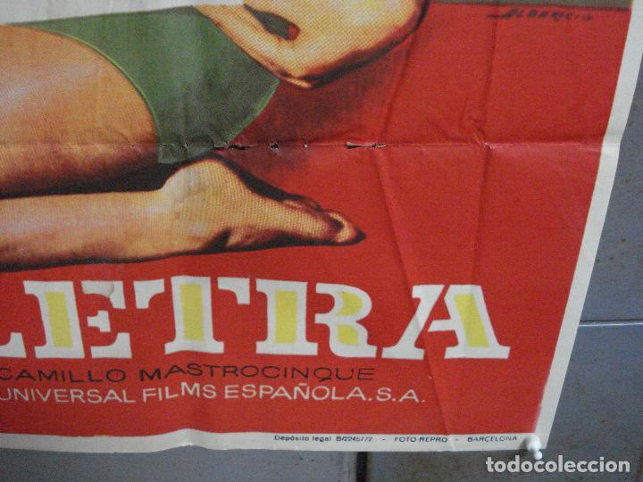 Cine: CDO 2694 LA LETRA VITTORIO GASSMAN SYLVA KOSCINA TOTO POSTER ORIGINAL 70X100 ESTRENO - Foto 10 - 205785592