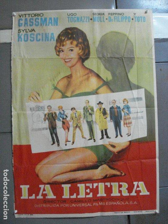 CDO 2694 LA LETRA VITTORIO GASSMAN SYLVA KOSCINA TOTO POSTER ORIGINAL 70X100 ESTRENO (Cine - Posters y Carteles - Comedia)