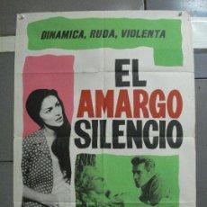 Cine: CDO 2695 EL AMARGO SILENCIO RICHARD ATTENBOROUGH PIER ANGELI POSTER ORIGINAL 70X100 ESTRENO. Lote 205785706