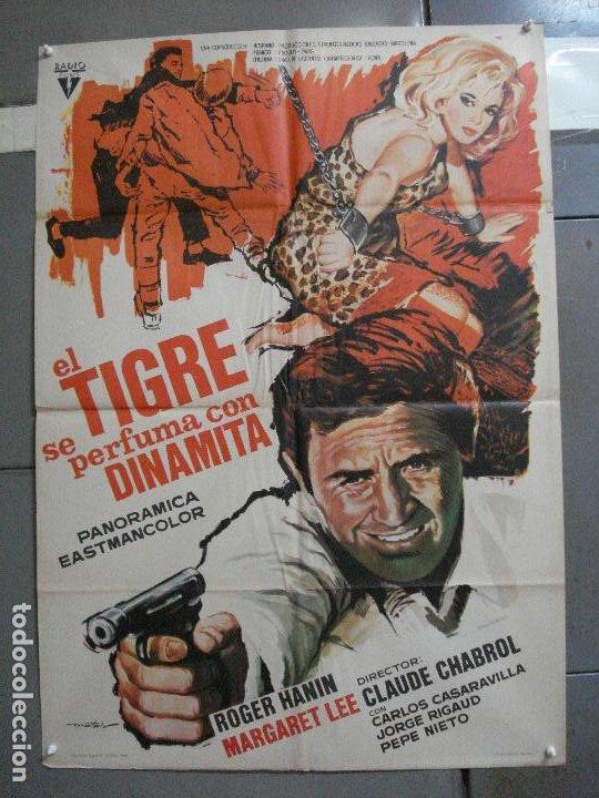 CDO 2696 EL TIGRE SE PERFUMA CON DINAMITA CHABROL ROGER HANIN MATAIX POSTER ORIGINAL 70X100 (Cine - Posters y Carteles - Acción)