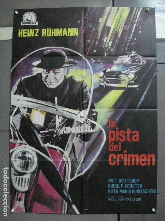 CDO K343 LA PISTA DEL CRIMEN HEINZ RÜHMAN PADRE BROWN POSTER ORIGINAL 70X100 ESTRENO (Cine - Posters y Carteles - Suspense)