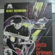 Cine: CDO K343 LA PISTA DEL CRIMEN HEINZ RÜHMAN PADRE BROWN POSTER ORIGINAL 70X100 ESTRENO. Lote 205787977