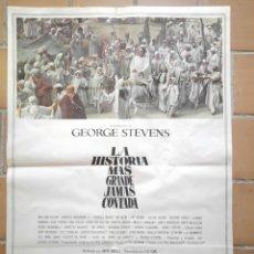 Cine: CARTEL POSTER ORIGINAL ESTRENO 1965 LA HISTORIA MAS GRANDE JAMAS CONTADA. C.B FILMS. Lote 205789307