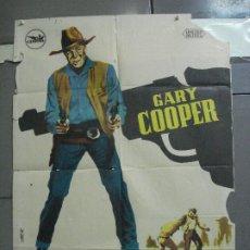Cine: CDO 2710 HOMBRE DEL OESTE GARY COOPER ANTHONY MANN HERMIDA POSTER ORIGINAL 70X100 ESTRENO B. Lote 205790263