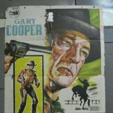 Cine: CDO 2711 HOMBRE DEL OESTE GARY COOPER ANTHONY MANN HERMIDA POSTER ORIGINAL 70X100 ESTRENO B. Lote 205790347