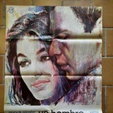 Cine: CARTEL POSTER ORIGINAL ESTRENO 1966 UN HOMBRE Y UNA MUJER. VALERIE LAGRANGE Y SIMONE PARIS. CB FILMS. Lote 205790446