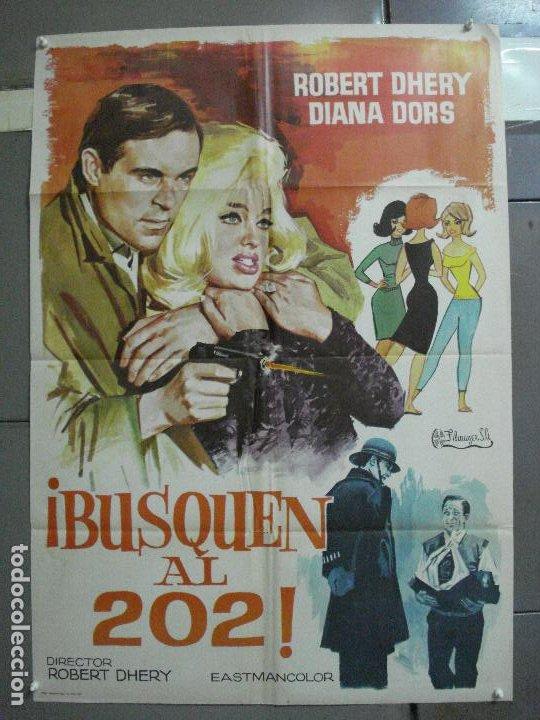 CDO 2721 BUSQUEN AL 202 DIANA DORS ROBERT DHERY POSTER ORIGINAL 70X100 ESTRENO (Cine - Posters y Carteles - Suspense)