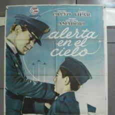 Cine: CDO 2728 ALERTA EN EL CIELO PABLITO CALVO ANTONIO VILAR POSTER ORIGINAL 70X100 ESTRENO. Lote 205794746