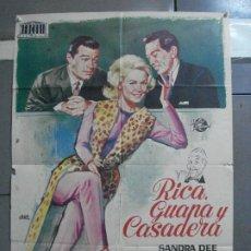 Cine: CDO 2733 RICA GUAPA Y CASADERA SANDRA DEE JANO POSTER ORIGINAL 70X100 ESTRENO. Lote 205796385