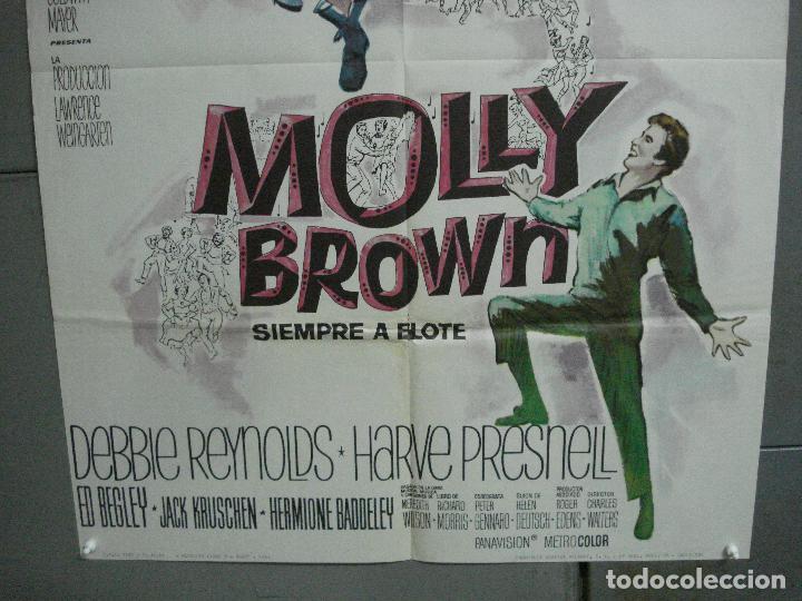 Cine: CDO 2749 MOLLY BROWN SIEMPRE A FLOTE DEBBIE REYNOLDS POSTER ORIGINAL 70X100 ESTRENO - Foto 3 - 205799915