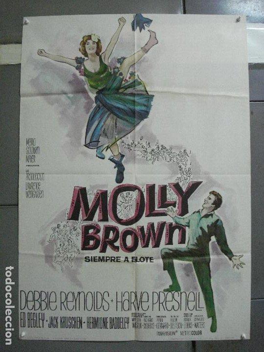 CDO 2749 MOLLY BROWN SIEMPRE A FLOTE DEBBIE REYNOLDS POSTER ORIGINAL 70X100 ESTRENO (Cine - Posters y Carteles - Comedia)