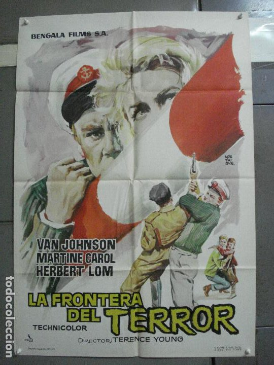 CDO 2753 LA FRONTERA DEL TERROR VAN JOHNSON MARTINE CAROL POSTER ORIGINAL 70X100 ESTRENO (Cine - Posters y Carteles - Acción)