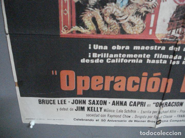 Cine: CDO 2755 OPERACION DRAGON BRUCE LEE BOB PEAK POSTER ORIGINAL 70X100 ESTRENO - Foto 5 - 205801621