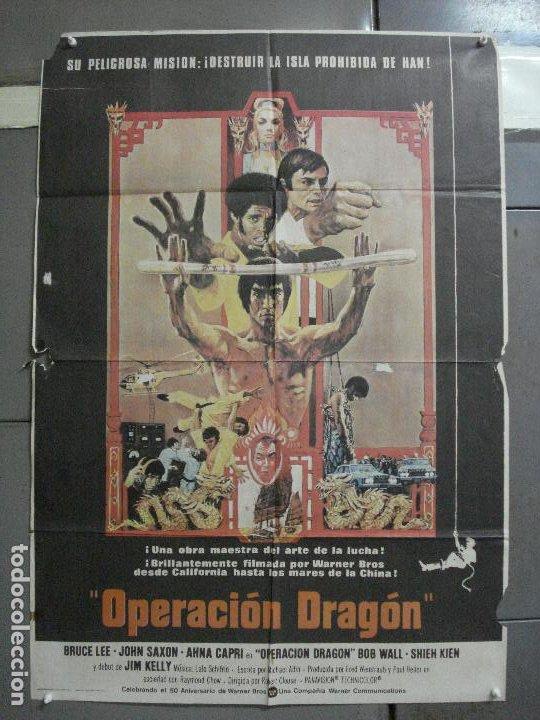 CDO 2755 OPERACION DRAGON BRUCE LEE BOB PEAK POSTER ORIGINAL 70X100 ESTRENO (Cine - Posters y Carteles - Acción)